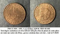 La Tres Tres Rare Piece De 1 Centime 1878 K Observez La Photo Et Sa Qualite