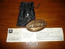 Lancement Citroen X M Medaille / Presse Papier Bronze Dijon 1989 Tres Rare
