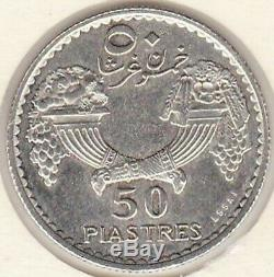Liban Colonie Francaise 50 Piastres 1929 Essai en Argent Tres Rare. Lec 39