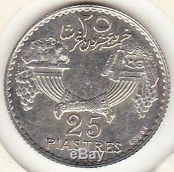 Liban Lebanon 25 Piastres 1929 Essai en Argent Tres Rare. Lec 34, KM# E7