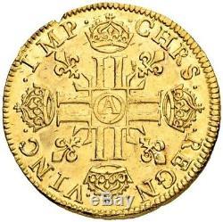Louis XIII Louis d'or à la mèche courte 1641 Paris très rare très bel exemplaire