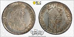 Louis XIV Ecu au Buste Juvénile 1673 Rennes PCGS MS63 Splendide Très rare