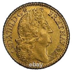 Louis XIV Louis d'or à la perruque 1687 Paris Superbe PCGS AU55 Très rare