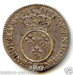 Louis XV 1/10 Ecu Vertugadin 1716 Z Grenoble Tres Rare
