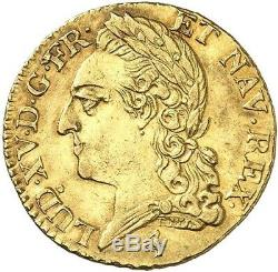 Louis XV Louis d'or à la vieille tête 1774 Paris Splendide très rare