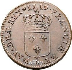 Louis XV Sol dit au buste enfantin 1719 Paris Splendide très rare qualité