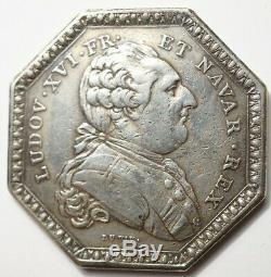Louis XVI Colonies Tres Rare Jeton Argent Pour La Compagnie Des Indes 1785