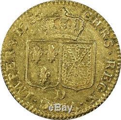Louis XVI Louis d'or à la tête nue 1785 D Lyon très rare PCGS AU50