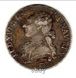 Louis XVI Rare Demi Ecu Buste Habille 1791a Leopard Tirage Tres Peu Cote 240e