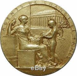 M4138 TRES RARE Médaille Agents De Change Paris Rouzée 1898 Or Gold Faire Offre