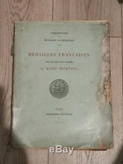 MÉDAILLES FRANÇAISES coins conservés AU MUSÉE MONÉTAIRE 1892 très rare ouvrage