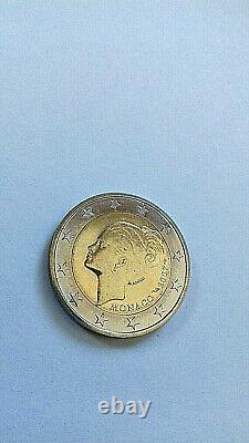 MONACO 2 euros GRACE KELLY 2007 SUPER ETAT TRES RARE ETAT NEUVE