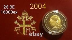 MONNAIE EURO VATICAN BE 2004 2 euro TRES RARE BELLE ÉPREUVE. RefA251