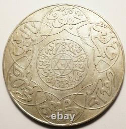 Maroc Tres Rare 10 Dirhams Argent 1313 Berlin