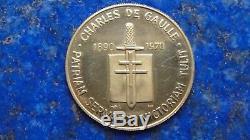 Médaille Or / Gold pur 24k De Gaulle Monnaie de Paris Très Rare 8,86 g