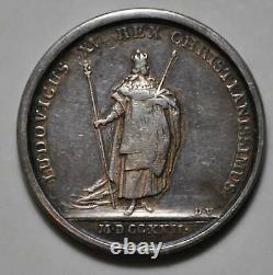 Médaille de table LOUIS XV 25 octobre 1722 sacre à REIMS d=41mm TRES RARE