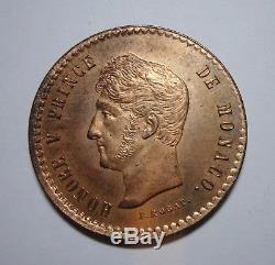 Monaco collection d'essais TRES RARE Epreuve 5 c 1838 MC sortant de frappe