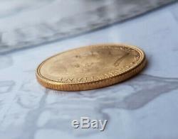 Monnaie 20 Kroner or 1915 Danemark Christian X rare et très belle qualité