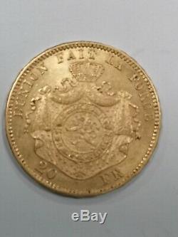 Monnaie, Belgique, Leopold II, 20 Francs, 20 Frank, 1870, SUP, Or très rare