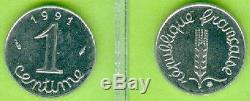 Monnaie De Paris 1 Centime Epi 1991 Frappe Normale Tres Rare