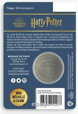 Monnaie de Paris Harry Potter 934 exemplaire rare, médailles très collectors