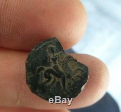 Monnaie gauloise bronze des RATUMACOS ROUEN (TRES RARE) 3 GRS 45