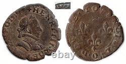Monnaie royale Henri III très rare double tournois 1579 RIOM