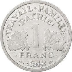 Monnaies, État français, 1 Franc Bazor, 1942, Poids faible, très rare #33245