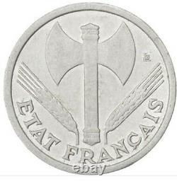 Monnaies, État français, 1 Franc Bazor, 1942, Poids faible, très très rare