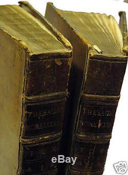 Morel A, Thesaurus Morellianus, 2 vol, Amsterdam, 1734, TRES RARE 200/18