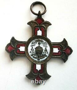 N°56. Médaille religieuse MONACO LES CHEVALIERS DE ST GEORGES (TRES RARE) 1907