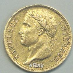 NAPOLEON EMPEREUR RARE TTB + 20 FRANCS OR1808 M tres difficile trouvè