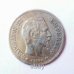 NAPOLEON III 10 francs or 1855 A FAUX EN PLATINE trés rare