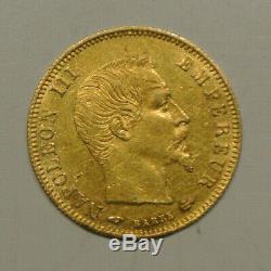 NAPOLEON III tète NUE 5 FRANCS OR 1859 A SUP /SPL ètat très RARE