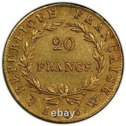 Napoléon 20 Francs or 1806 Lille Superbe PCGS AU55 Plus Haut Grade très rare
