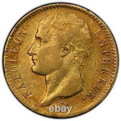 Napoléon 20 Francs or 1807 Lille Superbe PCGS AU53 Plus haut grade très rare