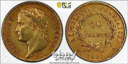 Napoléon 40 Francs or 1807 Paris tête laurée très rare Superbe PCGS AU55