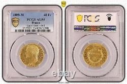 Napoléon 40 Francs or 1809 Toulouse PCGS AU55 Superbe Très rare