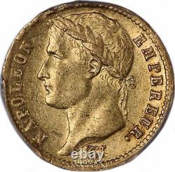 Napoléon Ier 20 Francs or 1813 Utrecht PCGS AU 53 Très rare