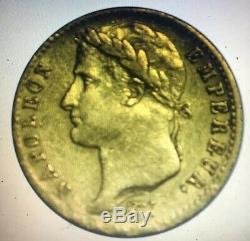 Napoléon Ier Cent-Jours Très rare 20 Francs or 1815 W LILLE RRR, 9345 ex