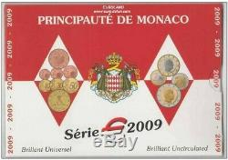 Neuf! Tres Rare Coffret Bu Monaco 2009 8 Pieces 8 000 Exemplaires Rare
