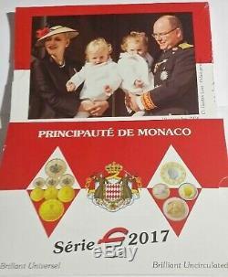 Neuf! Tres Rare Coffret Bu Monaco 2017 8 Pieces 8 000 Exemplaires Rare