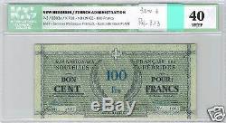 Nouvelles Hebrides 100 Francs Nd (1943) Pick 3 N° 1667 Icg 40 Vf/ef Tres Rare