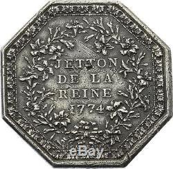 O3282 TRES RARE Jeton R3 Marie-Antoinette Reine de France 1774 Argent -F offre
