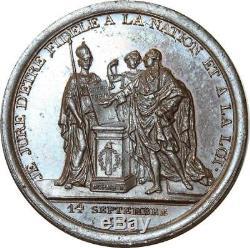 O5719 Tres Rare Monneron serment roi Constitution 1791 Dupré Desnoyers SUP++