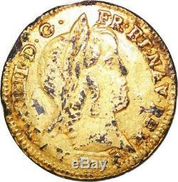 P1641 Très Rare Faux Epoque 1/2 Louis d'or mèche longue A Paris -Faire offre