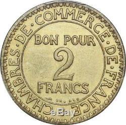 P2890 Très Rare 2 Francs Chambre Commerce Essai Piefort 1920 PCGS SP63