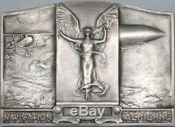 P2929 Très Rare Coffret Plaque Colonie Syrie Aviation Art Deco 1937 Morlon SPL