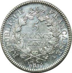 P3662 Trés Rare 5 Francs Union et Force an 11 A Paris Splendide