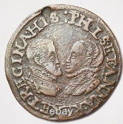 Pays-bas Espagnols Tres Rare Jeton De La Chambre Des Comptes De Hollande 1571